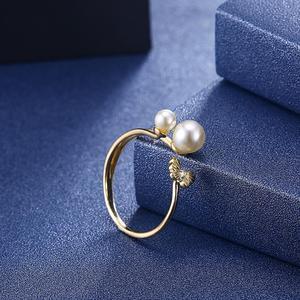 Image 4 - DOM Women Rings  925 Sterling Silver Adjustable Ring Elegant Butterfly Pearl Rings for Women Original Fine Jewelry SVR395