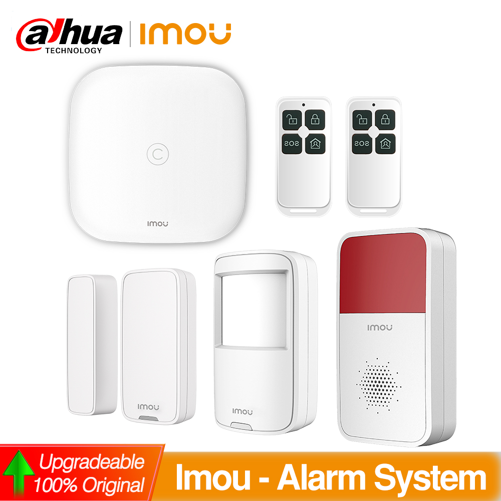 Dahua Imou Wireless Alarm System WIFI With PIR Motion Detector Door Contact Alarm Siren Remote Control For home Security
