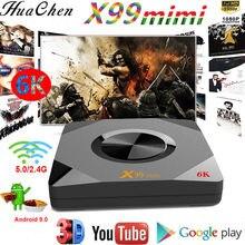 X99 mini quad core de 64 bits android 9,0 smart wifi conectado caixa de tv 4 gb 32 gb 6k hd música de vídeo conjunto superior b