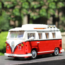 Volkswagen Technic T1 Camper Car Van Beetle Fit Children Creator Series Building Blocks Toys with Ideas 10220 21001 Bricks