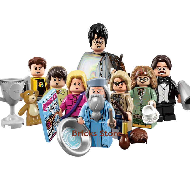 8Sets Stealth Harri Dumbledore Flitwick Longbottom Luna Diggory Mad-Eye Moody Model Figure Blocks Action Bricks Toy For Children