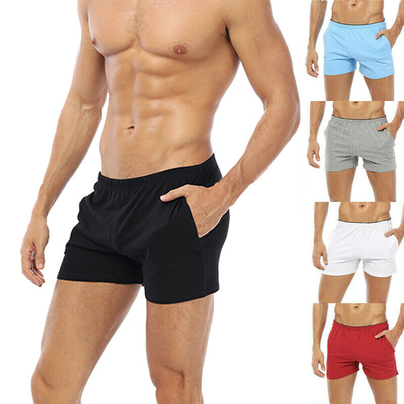 Summer Breathable Sleep Bottoms Men Sleep Shorts C