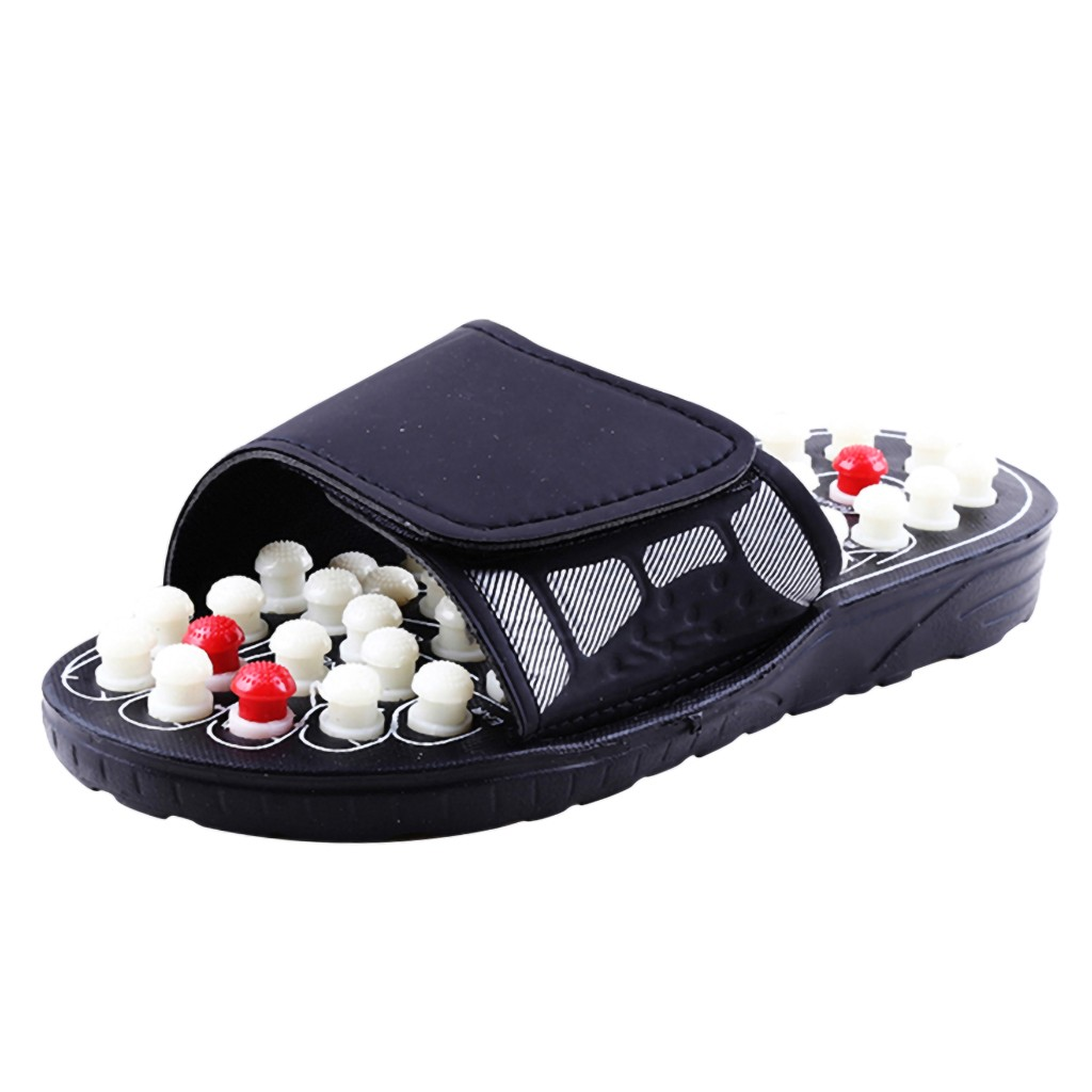 Massage slippers magnetic therapy jade plantar foot massage shoes indoor household antiskid massage for men and women
