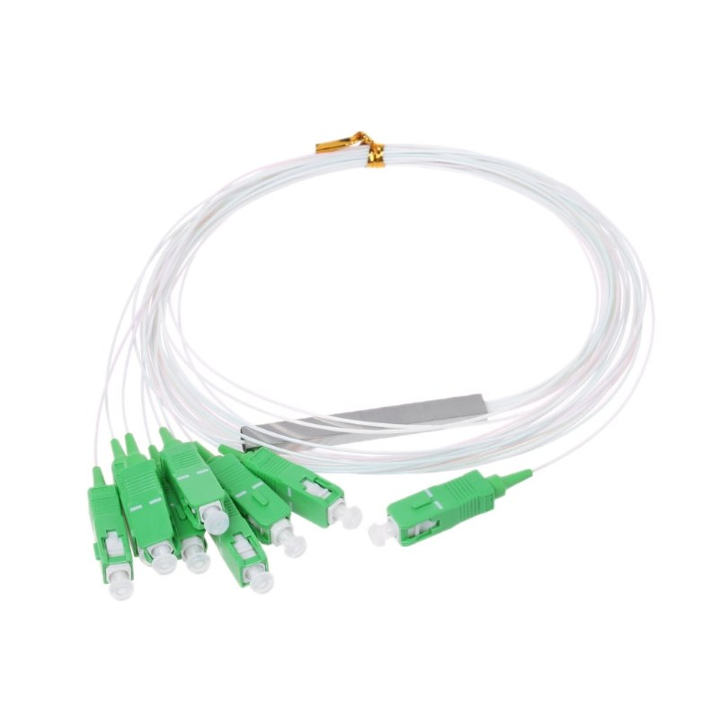 10 unids/lote PLC divisor óptico SC APC 1X8 FTTH fibra óptica divisor óptico FBT acoplador monomodo Simplex de tubo de acero Conector rápido FTTH SC APC, 100 Uds., 50 Uds., fibra óptica de modo único, conector rápido SC UPC, adaptador de fibra óptica de cola recta
