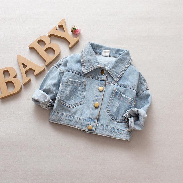 Denim Jacket Children Kids Fashion Cowboy Coat Leisure Clothes For Boys Girls Autumn Winter Outerwear Baby Casual Jean Coats 1