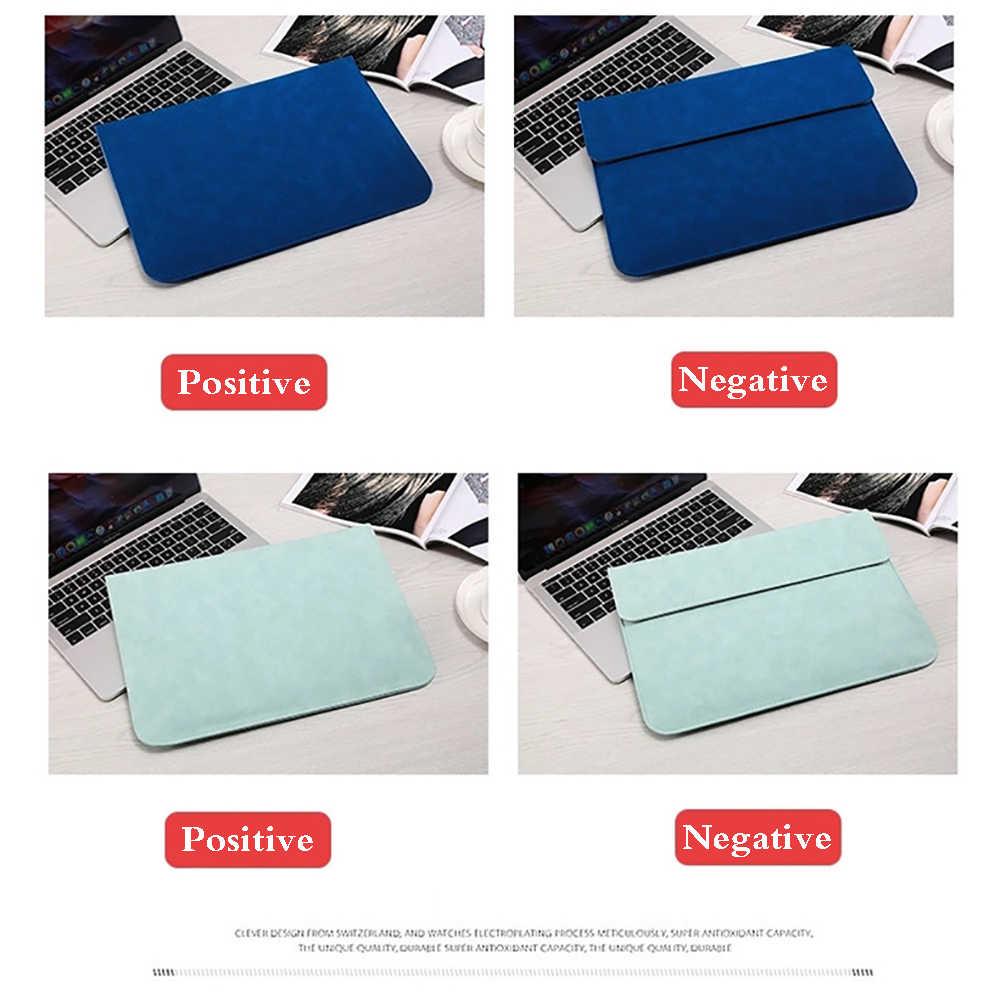 Matowa klamra magnetyczna PU torba na laptopa dla Apple Macbook Pro 15 Case Air 11 12 Retina 2019 nowy 13 touch bar kobiety mężczyźni okładka