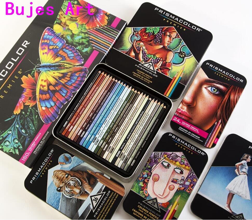 Prismacolor sanford arte oleosa lápis de cor 24 36 48 72 150 cor lápis de cor cor de madeira desenhador esboço material escolar