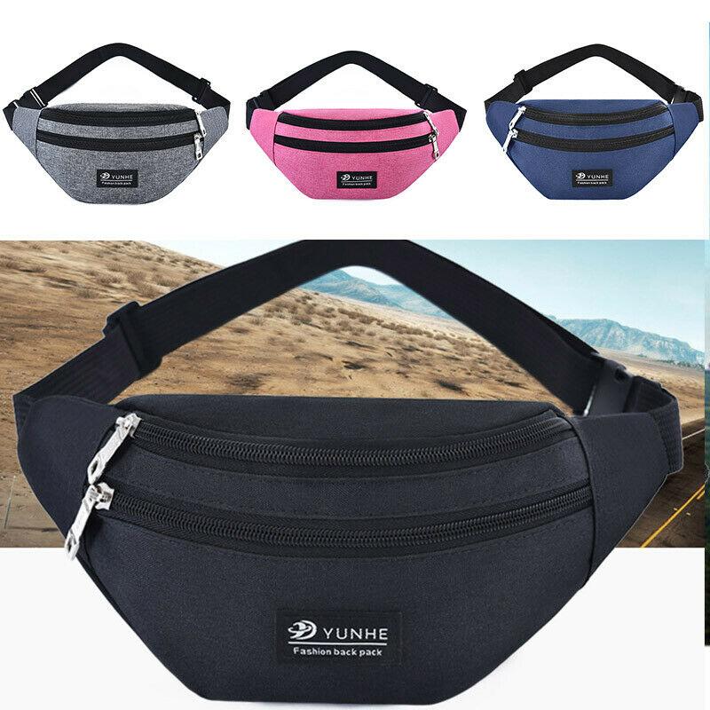 Mans Womens Fanny Pack WaterProof Phone Pocket Pouch Belt Waist Bum Bag Waist Sport Outdoor Casual Bag