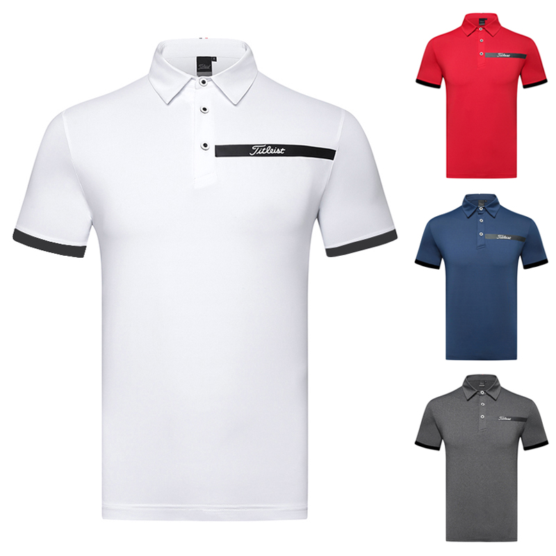 2021 Golf men's short sleeve T-shirt quick dry and ventilated polo shirt casual sports golf wear top summer