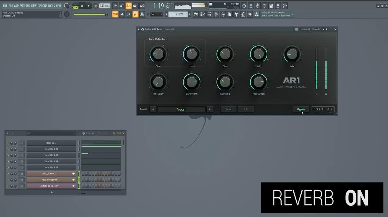 Initial Audio AR1 Reverb 混响