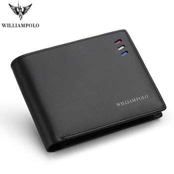 Wallets Men Short Business-style Red-white-blue Strip Card Holder Slots Ultrathin Genuine Leather Portable PL171336 - DISCOUNT ITEM  60% OFF All Category