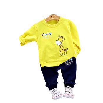 2020 New Spring Children Clothes Baby Boys Girls Cartoon T Shirt Pants 2Pcs/sets Kids Infant Clothing Toddler Casual Sportswear new spring autumn girls clothing sets kids sports suit casual girls cartoon t shirt pant 2pcs children clothes 4 6 8 10 12 years