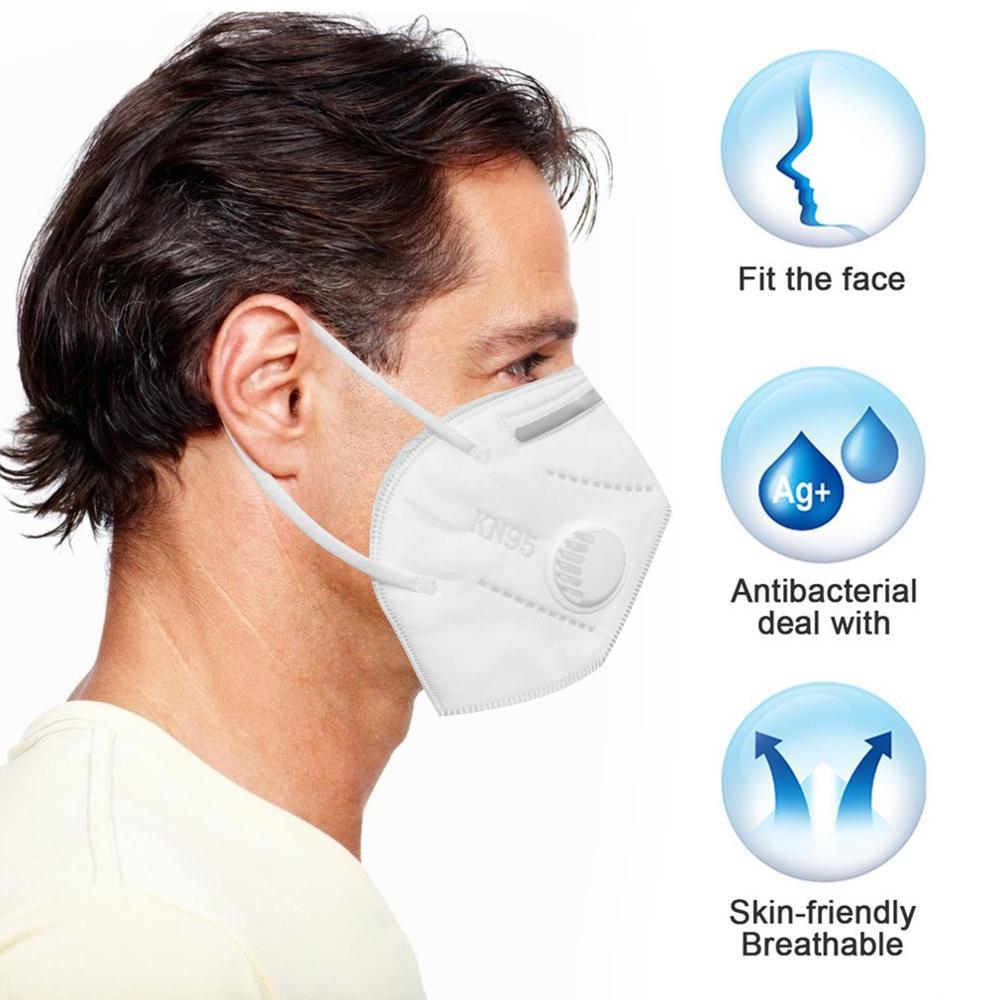 FFP2/FFP3 Mask With Breathing Valve And No Valve High Efficiency Filtration Breathable Adjustable 3D Fitting Design 1/10 Pcs