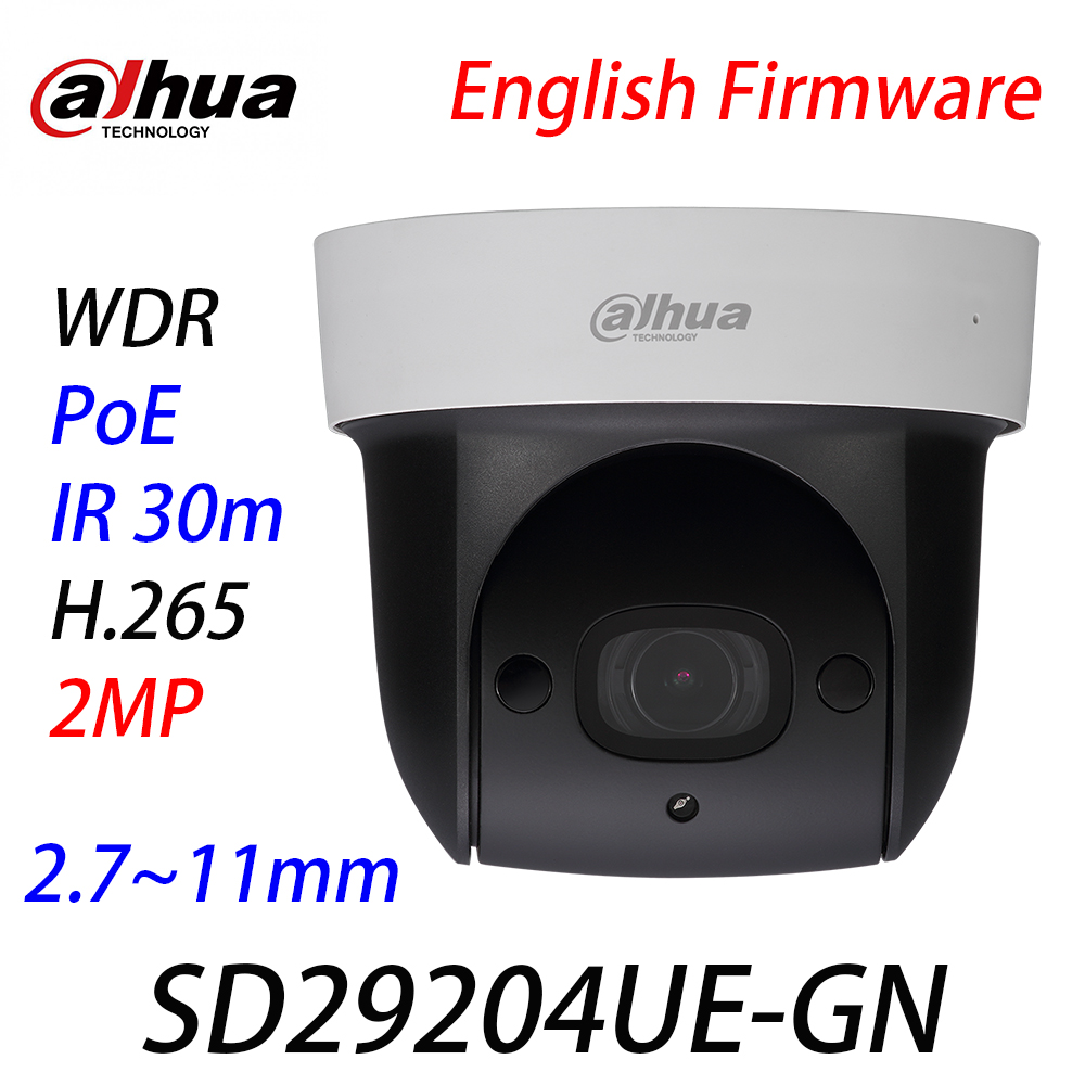 <font><b>Dahua</b></font> Original English SD29204UE-GN <font><b>IP</b></font> <font><b>2MP</b></font> 4x Starlight IR 30m PTZ WDR PoE H.265 IVS 2.7mm~11mm Network <font><b>Camera</b></font> With Logo image