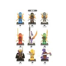 Building Blocks Figures Pretty Cole Jay Lloyd Nya Skylor Zane Pythor Garmadon Bricks Collection Toys for Children Gifts X0118 цена