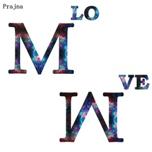 Prajna Starry Sky Love Letters Iron On Transfers For Clothing DIY Heat Transfer Vynil Thermal Patches Ironing Stickers T-shirt prajna starry sky love letters iron on transfers for clothing diy heat transfer vynil thermal patches ironing stickers t shirt