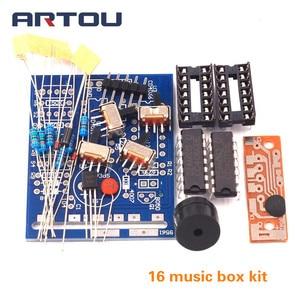 16 Музыкальная Коробка 16 звуковая коробка-16 16-тонная коробка электронный модуль DIY Kit DIY запчасти комплектующие наборы аксессуаров доска