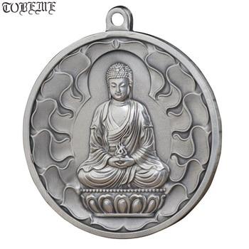 100% 999 Silver Eight Buddha Statue Amulet Pure Silver Buddhist Buddha Statue Pendant the Chinese Zodiac Good Luck Pendant