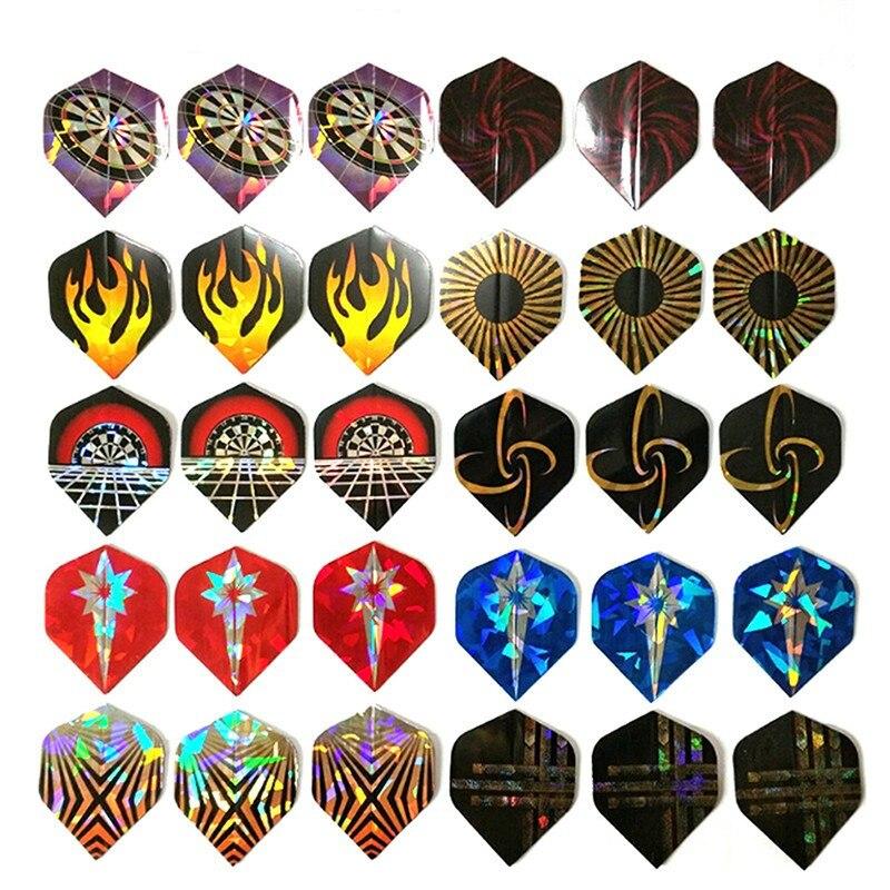 Dart Flights Set 30PCS Multiple Styles Colorful PET Darts Flights Professional Darts Newly Dart Accessories