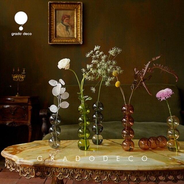 INS Crystal ball bubble Glass Vase Flower arrangement hydroponics ball glass art flower ware Home Decor 4