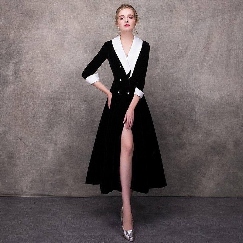 FairyShely 2020 Spring Split Long Dress Women Sexy Maxi Black Club Dress Celebrity Evening Party Dress Vestidos Plus Size