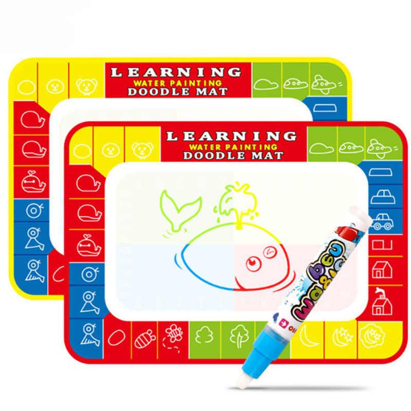 30CM niños coloridos agua mágica escritura Graffiti pintura lienzo dibujos animados niño dibujo educativo alfombra de juguete