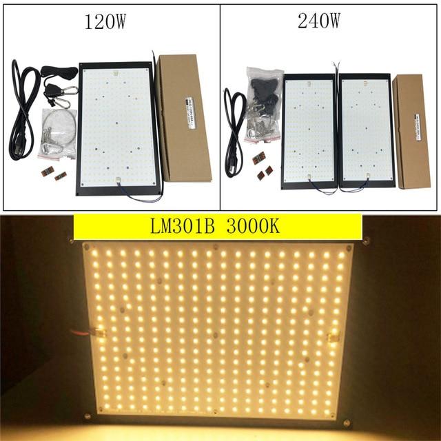 High Quality 120W 240W Led Grow Light Quantum Board Full Spectrum Samsung LM301B SK 3000K 3500K 4000K 660nm DIY (MW-XLG -Driver)