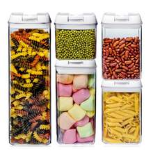 5 шт/компл коробка для хранения пищевых продуктов набор пластиковых