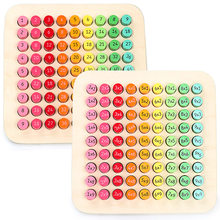 Montessori zabawki matematyczne drewno 9*9 tabliczka mnożenia kolorowe zabawki arytmetyczne zabawki do wczesnej edukacji dla dzieci w wieku przedszkolnym