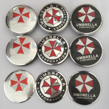 4 pçs 56mm 60mm guarda-chuva corporation logotipo centro da roda do carro capa hub tampa emblema emblema etiqueta do carro estilo