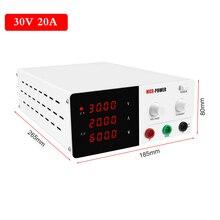 110v/220v dcラボ調整可能な電源 30v 20Aベンチソースユニバーサル電圧電流レギュレータ電話R SPS3020