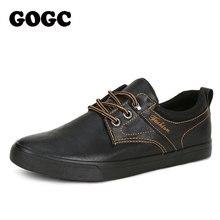GOGC baskets en cuir pour hommes, chaussures à enfiler en toile pour printemps décontracté, krassovki kedy chaussures pour hommes, G763