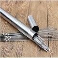(50 шт/труба) плоские шашлыки из нержавеющей стали для Барбекю Игла для гриля для барбекю палочки с трубкой