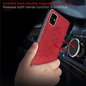 Baumwolle Stoff Fall Für Samsung Galaxy A51 Fall Galaxy A51 A71 A31 A01 M21 M31 Magnetische Telefon Fall Für Samsung galaxy A51 Abdeckung