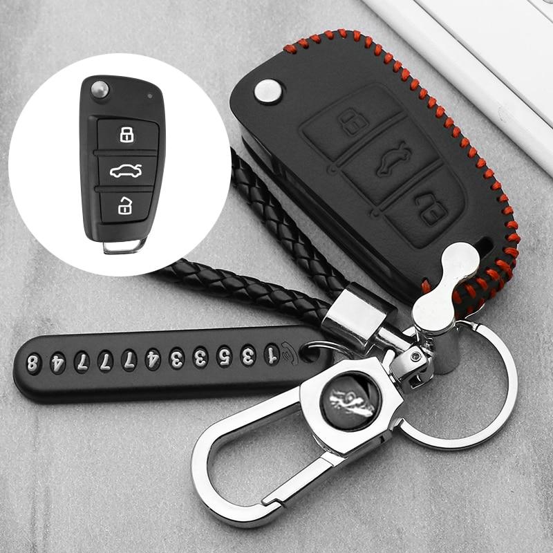 leather car key case Cover For Chery Key Case Protecting Holder ARRIZO7 E3 E5 A3 A5 Tiggo 3 5 Fulwin2 Eastar Remote fob Shell(China)
