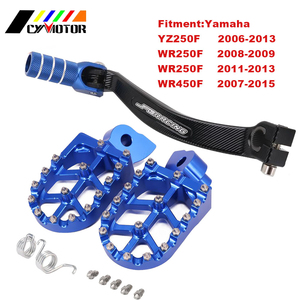 Motorcycle CNC Foot Pegs Footpeg Rests Shift Pedals For Yamaha YZ250F WR250F WR450F YZF250 WRF250 WRF450 YZ-F 250 WR 450F 06-15