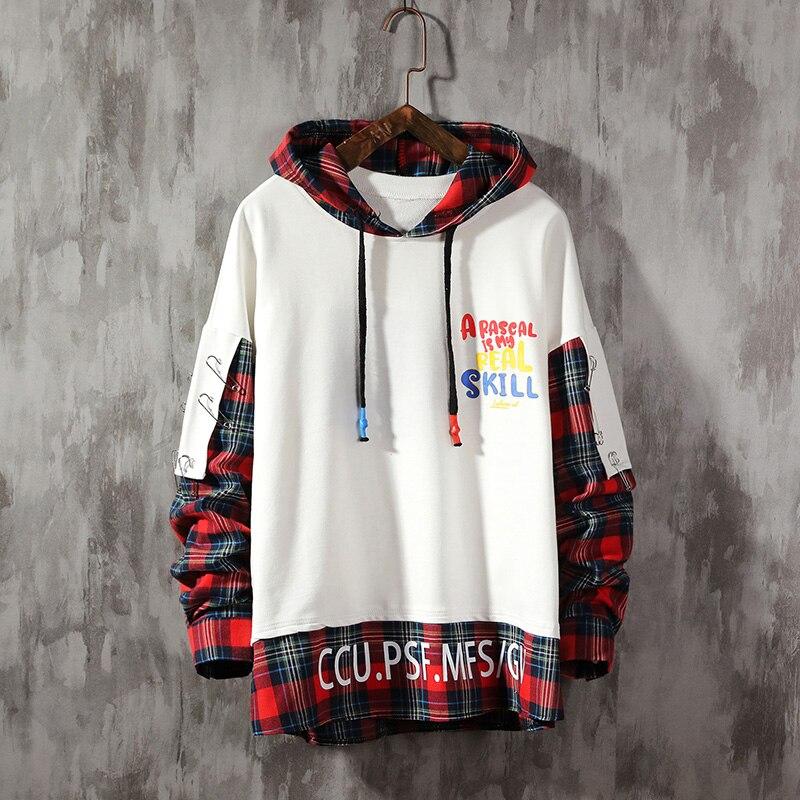 Hip Hop Pullover Jackets Men 2019 Autumn  Hoodie  Male Special Desgin Casual Windbreaker Sweatshirt Streetwear