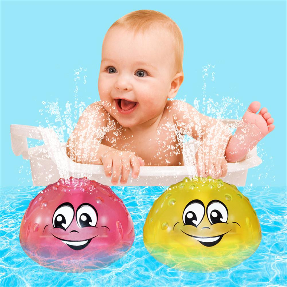 Bath Toys Spray Water Light Rotate With Shower Pool Kids Toys For Children Toddler Swimming Party Bathroom LED Light Toys