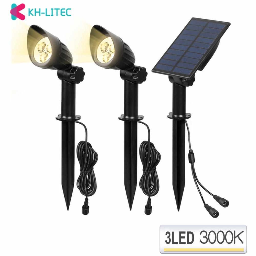 3 Cap LEVOU Energia Solar Holofotes Luzes