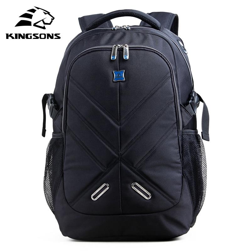 Kingsons Shockproof 15.6 inch Laptop Backpack Male Bag Large Capacity Notebook Bagpack Teenager Boy Mochila Militar School Bags-in Backpacks from Luggage & Bags    1
