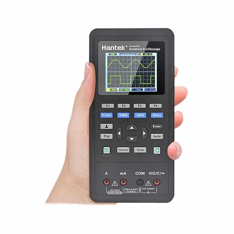 Hantek 2d72/2d42/2c72/2c42 handheld 3in1 osciloscópio digital + gerador de forma de onda + multímetro portátil usb 2 canais 40mhz 70mhz