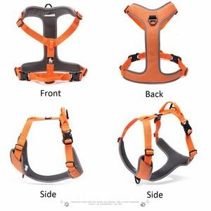 Image 3 - エックパッド入り反射犬ペットハーネス小大ソフトウォーク調整可能なハンドルとシートベルト用のペット用品ドロップシッピング