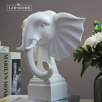 Modern study cabinet decoration elephant art Animal Sculpture office living room room Crafts home Nordic fashion home crafts