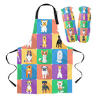 Cartoon Dog Apron Ov...