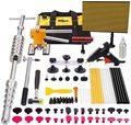 Безболезненный инструмент для ремонта вмятин, 77 шт., автомобильные инструменты для удаления вмятин с выдвижным молотком, мостовой съемник, ...