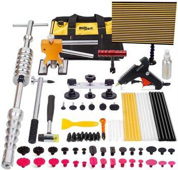 Paintless narzędzie do naprawiania wgnieceń 77 sztuk Dent Dent Temoval narzędzia z młotkowe podnośnik ściągacz most LED drutu pokładzie zestaw tanie i dobre opinie CN (pochodzenie) Paintless Dent Repair Tool