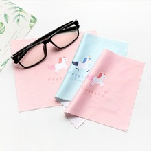 5 Pcs High Quality Pink Cartoon Glasses Cleaner Microfiber Glasses Cleaner for Lens Phone Screen Cleaning Wipes Eyewear Kids
