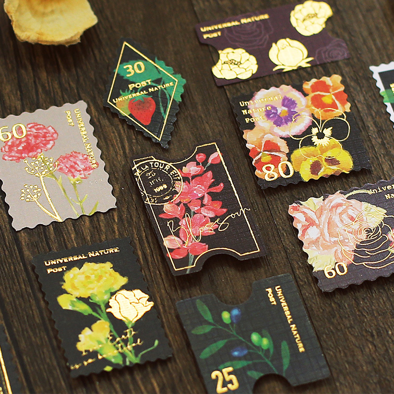 45pcs/1lot kawaii Stationery Sticker Vintage Post stamp Diary Planner junk journal Decorative Scrapbooking DIY Craft Stickers