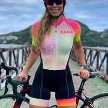 Женский комбинезон для велоспорта с юбкой xama