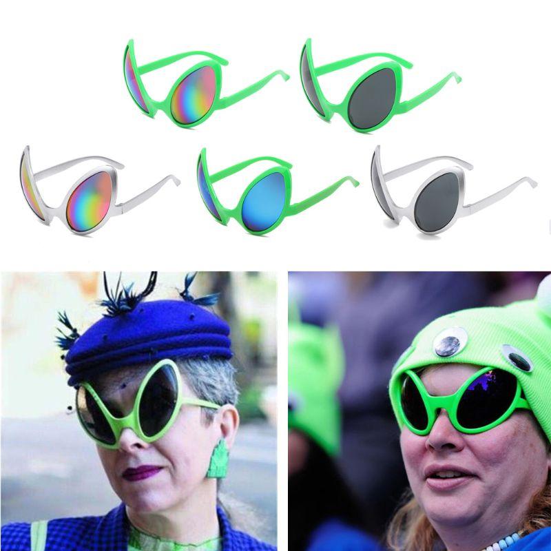 Funny Aliens Costume Glasses Rainbow Lenses ET Sunglasses Halloween Party Props
